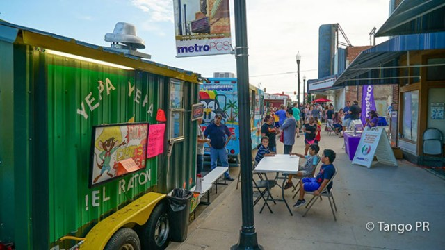 Yepa Yepa El Raton is one of several food truck options at Fiesta Fridays, serving up hot dogs, hamburgers, corn in a cup and <em>horchata</em>. (Historic Captiol Hill / Calle Dos Cinco / provided)
