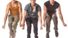 Ryan Fitzgerald as Action, Christopher Rice as Riff, Sean Watkinson as A-Rab | Photo KO Rinearson / Lyric Theatre of Oklahoma / provided