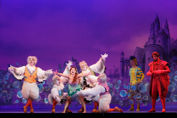 <em>Disney's The Little Mermaid</em> incorporates several effects to simulate an underwater experience. (Tracy Photography / OKC Broadway / provided))