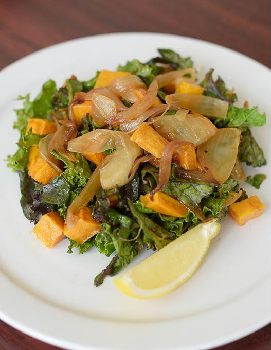 Kale and sweet potato salad at Chef Curry To Go (Garett Fisbeck)