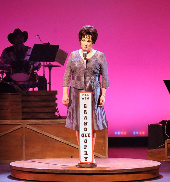 Julie Johnson portrays crossover singer Patsy Cline in CityRep's latest production. (Oklahoma City Repertory Theatre / provided)