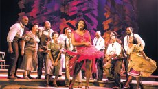 Carla Stewart (Shug Avery) sings with other members of The Color Purple cast during a production on the show's national tour. | Photo Matthew Murphy / provided