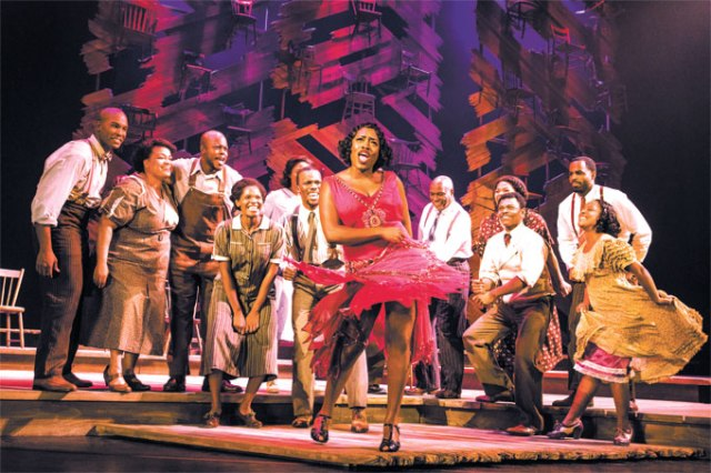 Carla Stewart (Shug Avery) sings with other members of <em>The Color Purple</em> cast during a production on the show's national tour. (Matthew Murphy / provided)