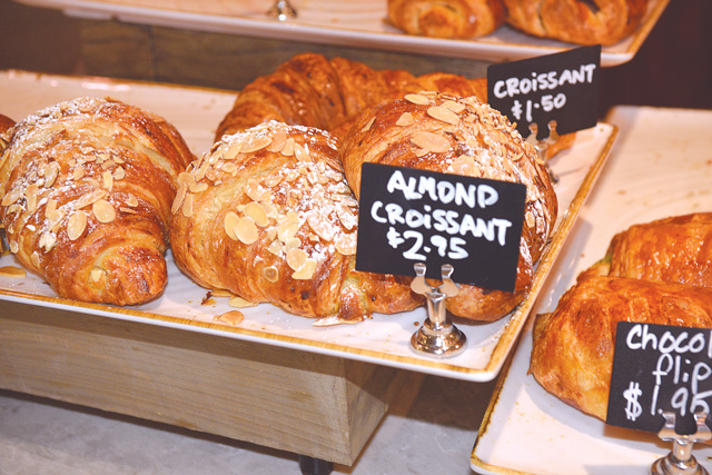 Croissants are made fresh every morning. (Jacob Threadgill)