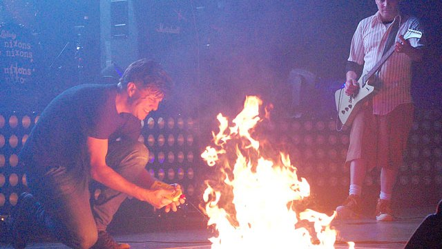 It has become a near tradition for The Nixons' frontman Zac Maloy to light a fire on stage. The recently revived post grunge band will play its last show for the near future on New Year's Eve. (Photo provided)