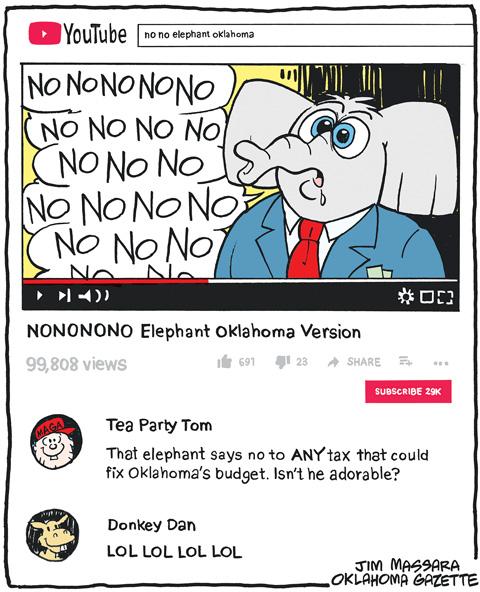 Cartoon: No no no no elephant