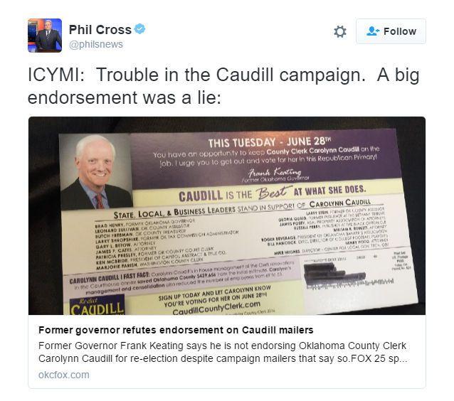 Caudill Fakes An Endorsement