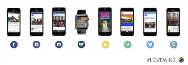 参照元:「分散型メディア」の作り方。プラットフォーム別に見る「NowThis」の#LoveWinsコンテンツ