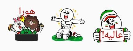 海外 LINEスタンプ ワールドカップ