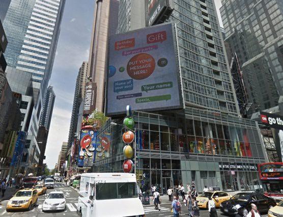 ニューヨーク  M&M's エムアンドエムズ