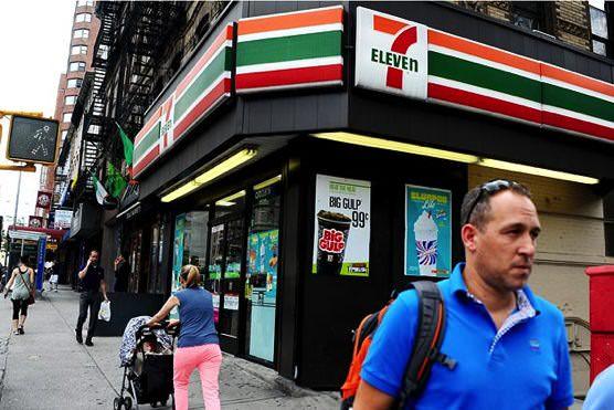 アメリカ  ニューヨーク  セブン-イレブン