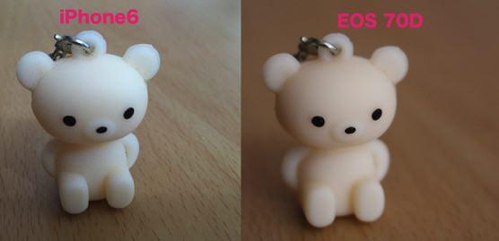 iPhone6と一眼レフカメラEOS70Dの写真比較