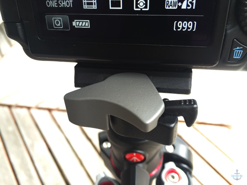 Manfrotto Befreeの三脚のクイックシュー