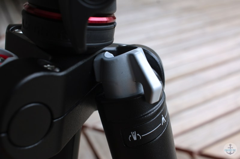 Manfrotto Befreeの三脚の脚調節