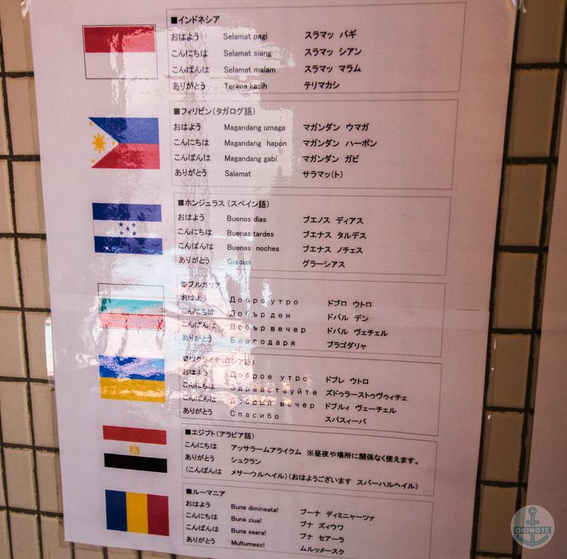 外国語の看板
