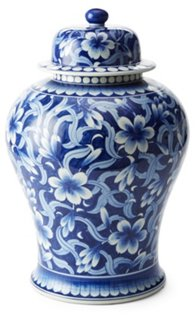 19quot Jasmine Ginger Jar Blue White Decorative Jars