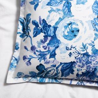 Lauren Sham Blue White Bedding Bath Sale By