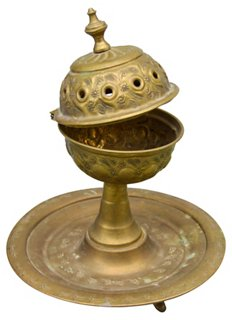 Handmade Moroccan Brass Incense Burner The Moroccan Room