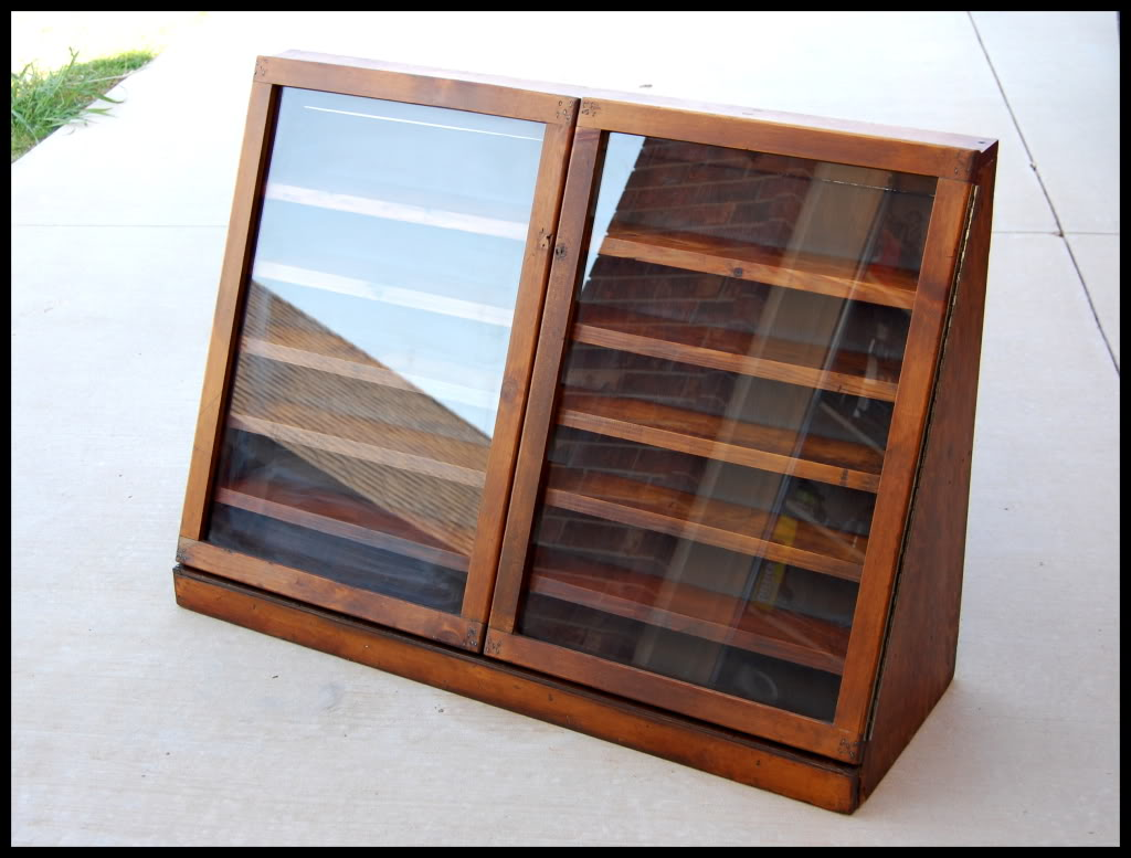 Used Kitchen Cabinets Okc Vintage Hand Built Wooden Display Case Oklahoma Shooters