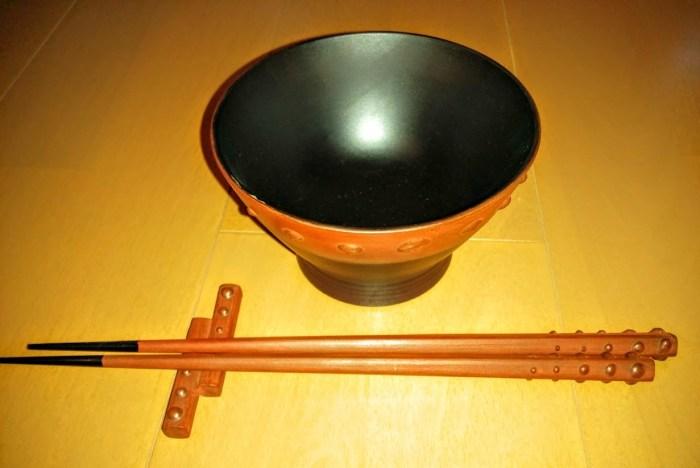 鉄錆塗り 椀 箸セット