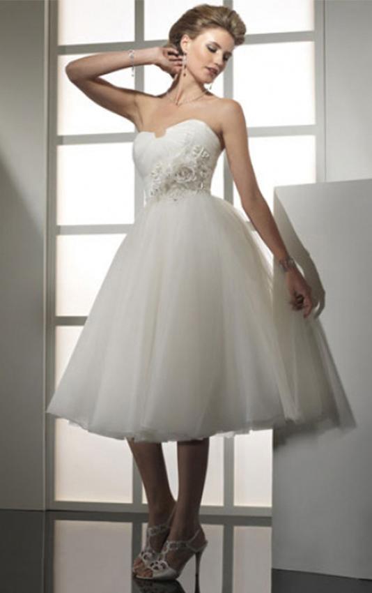 Ball-Gown-Skirt-Strapless-Ivory-Tulle-Skirt-Short-Knee-length-Wedding-Dresses-21444