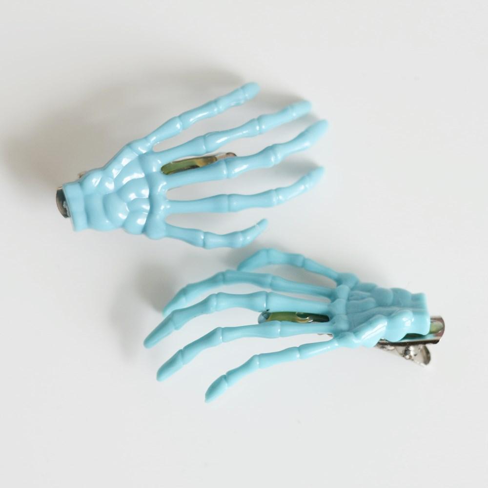 NEW Małe spinki kościotrupki, kolor błękitny, 9 zł/para