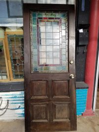 Antique Stained Glass Door | Antique Furniture