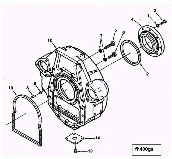 fleetguard fuel filter head
