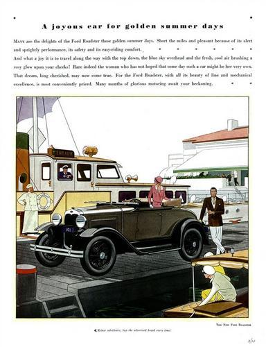 Old car and truck advertisement brochures, The Ford 1905 to 1956