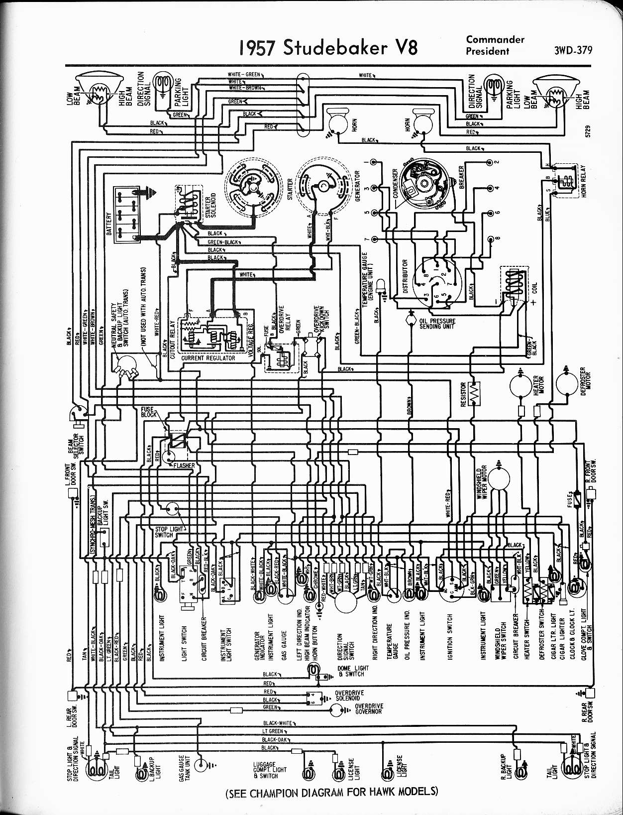 Electrical Wiring Diagram For 1940 Studebaker Champion Auto 1950 39