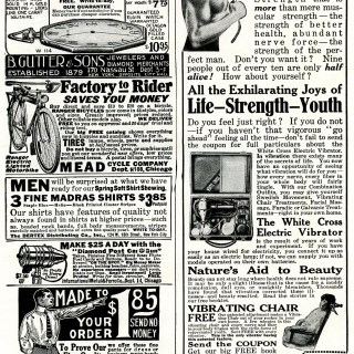 Page of Vintage Magazine Advertisements