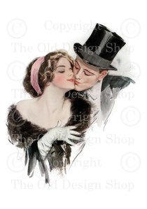 Harrison Fisher Couple in Love