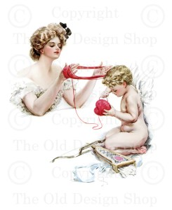 Harrison Fisher Girl with Cupid