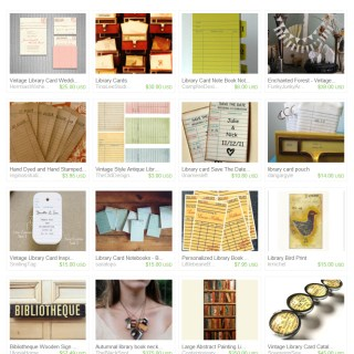 "Etsy Treasury ""Overdue Books"""