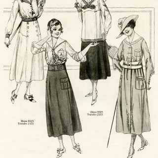 Vintage Women's Wartime Fashion 2 of 2