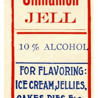 Cinnamon Jell Extract Vintage Food Label