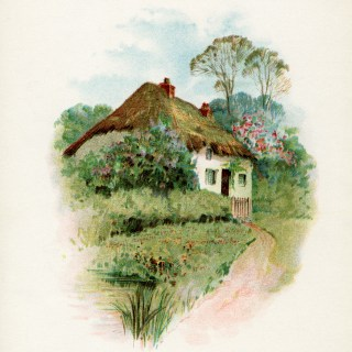 Thatched Roof Cottage in the Country