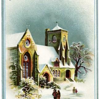 Victorian Country Church Scene