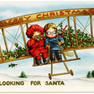 Children Looking for Santa in Plane