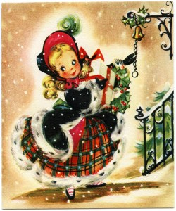 OldDesignShop_ChristmasGirlGreetingCard
