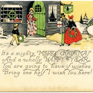 Victorian Family Gathering Christmas Card