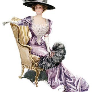 Harrison Fisher Woman With Ostrich Fan