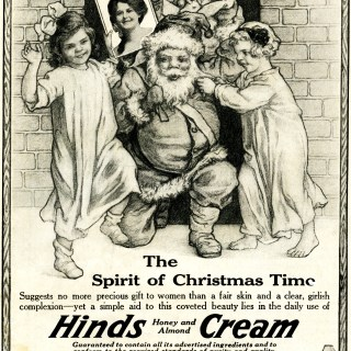 Hinds Honey and Almond Cream Vintage Ad