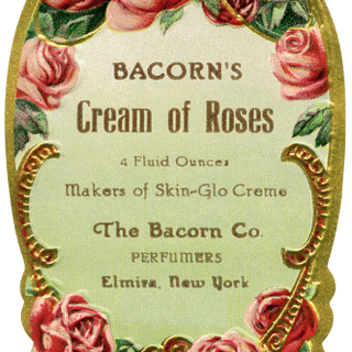 Bacorn's Cream of Roses Perfume Label
