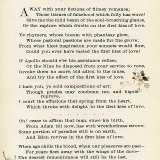 First Kiss of Love Vintage Poem