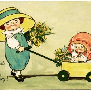 Dolly Dingle Easter Postcard by Grace Drayton