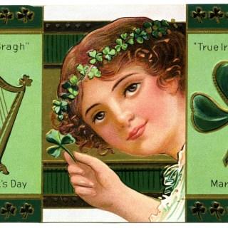 Free Digital Image ~ Vintage St. Patrick's Day Postcard