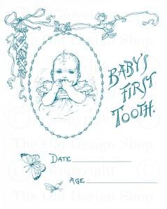 OldDesignShop_BabysFirstTooth
