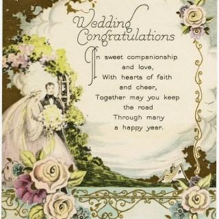 Vintage Wedding Congratulations