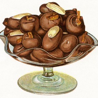 Free Digital Images ~ Vintage Chocolate Treats